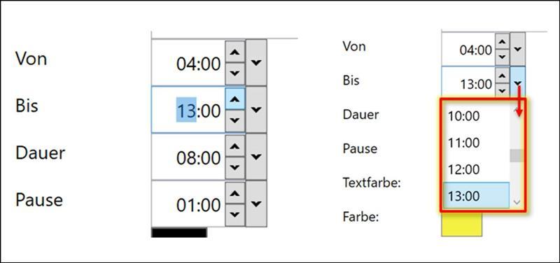 👁 🗨 WPF Uhrzeit Elemente oder DateTime-Picker