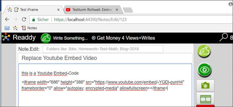 👁 🗨 Javascript: Youtube Embed Create video from text
