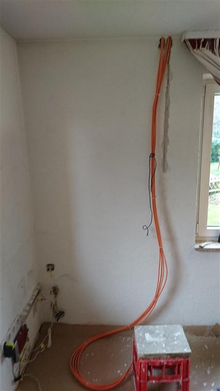 Lan Kabel Vom Ersten Stock Verlegt