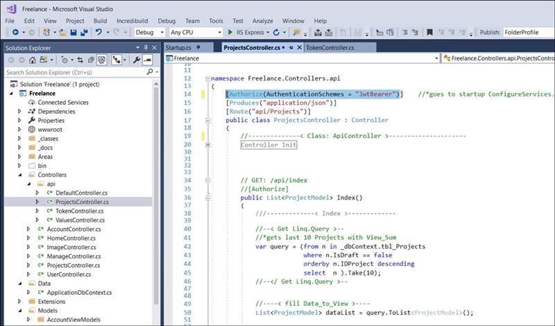 👁 🗨 Example Code: Create Asp Net Core Web API and