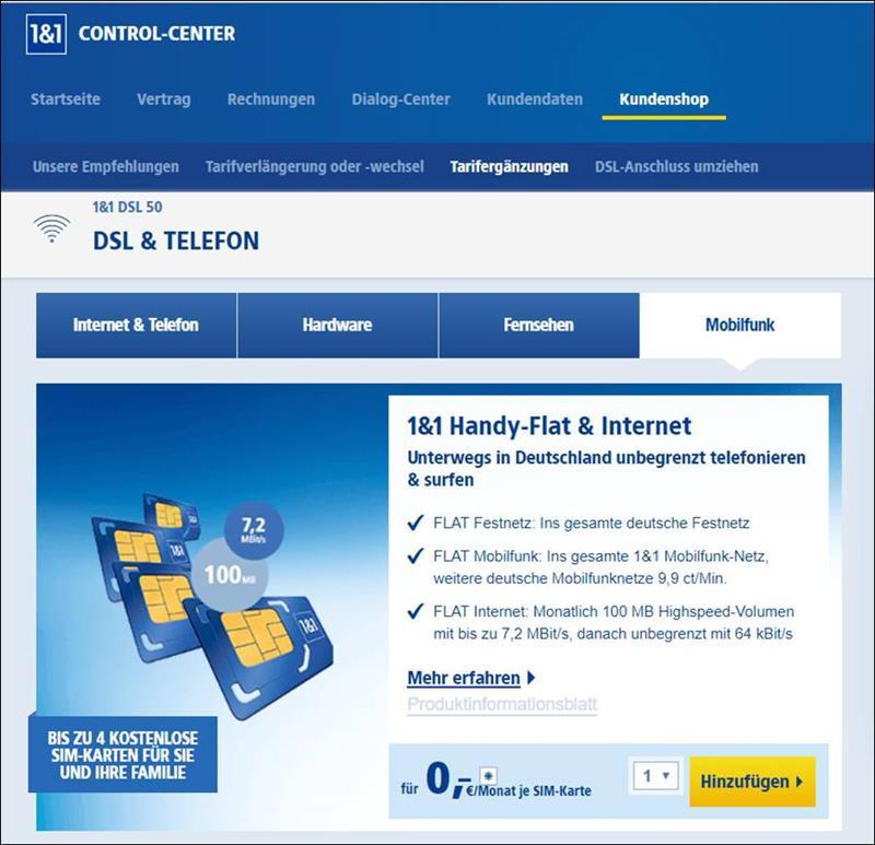 Sim Karte Kostenlos Internet.Bei 1 1 4 Kostenlose Handy Verträge Sim Karten Bei Dsl Verträgen