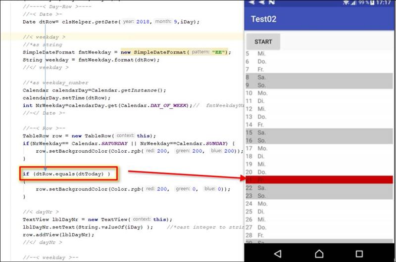 👁 🗨 Android Java: compare date day